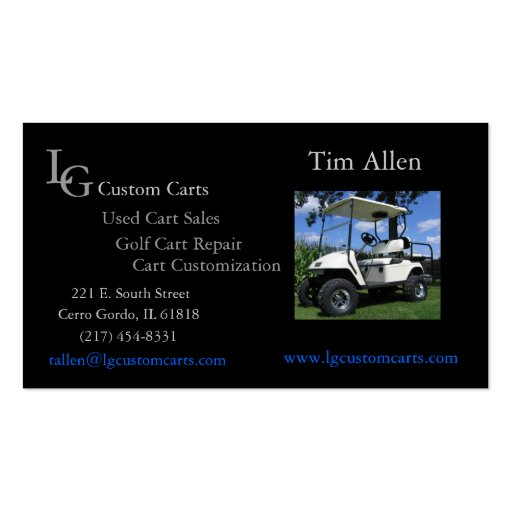 Customize Your Own Car >> Golf Cart Business Card | Zazzle