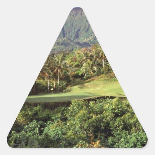 golf course triangle sticker zazzle. Black Bedroom Furniture Sets. Home Design Ideas