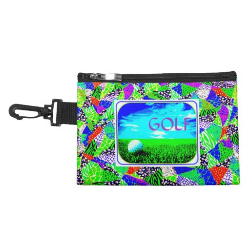 GOLF Ladies Colorful Photo Clip On Accessory Bag | Zazzle