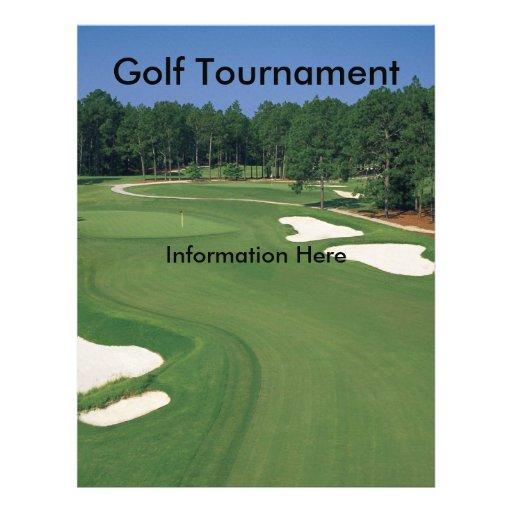 Golf Tournament Flyer   Zazzle