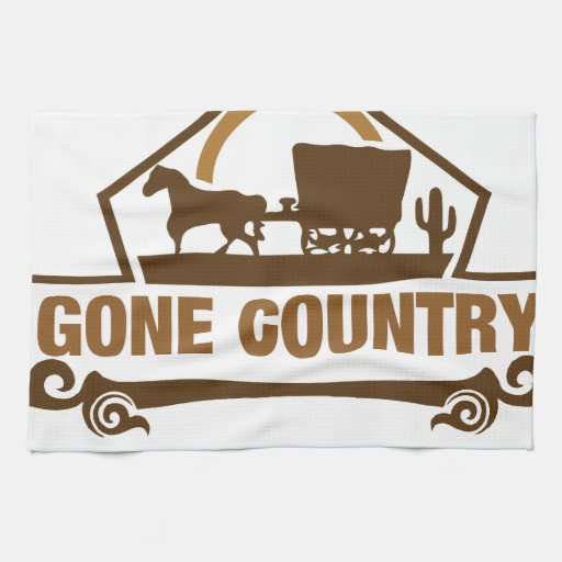 Living Quarters Washcloths: Gone Country - Country Living Towels