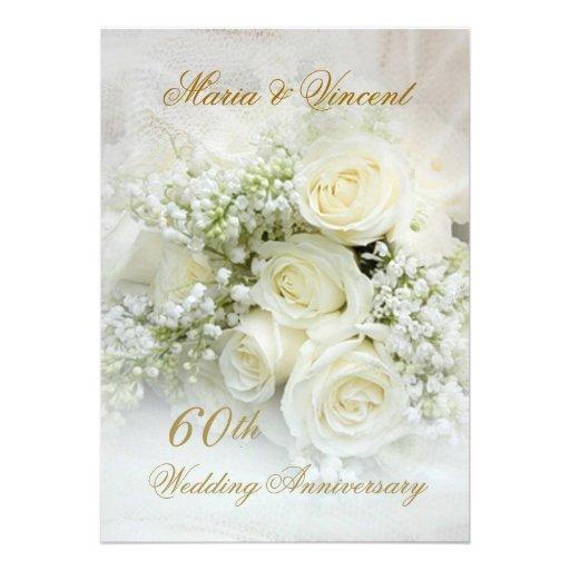 700 60th wedding anniversary invitations 60th wedding anniversary announcements invites zazzle. Black Bedroom Furniture Sets. Home Design Ideas
