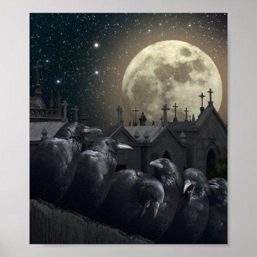 Coca Cola Gifts >> Gothic Crows Mini Poster | Zazzle