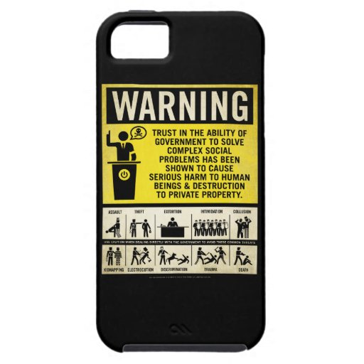 Government Warning Label Case IPhone 5 Case
