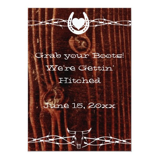 Western Wedding Invitations: Grab Your Boots Country Western Wedding Invitation