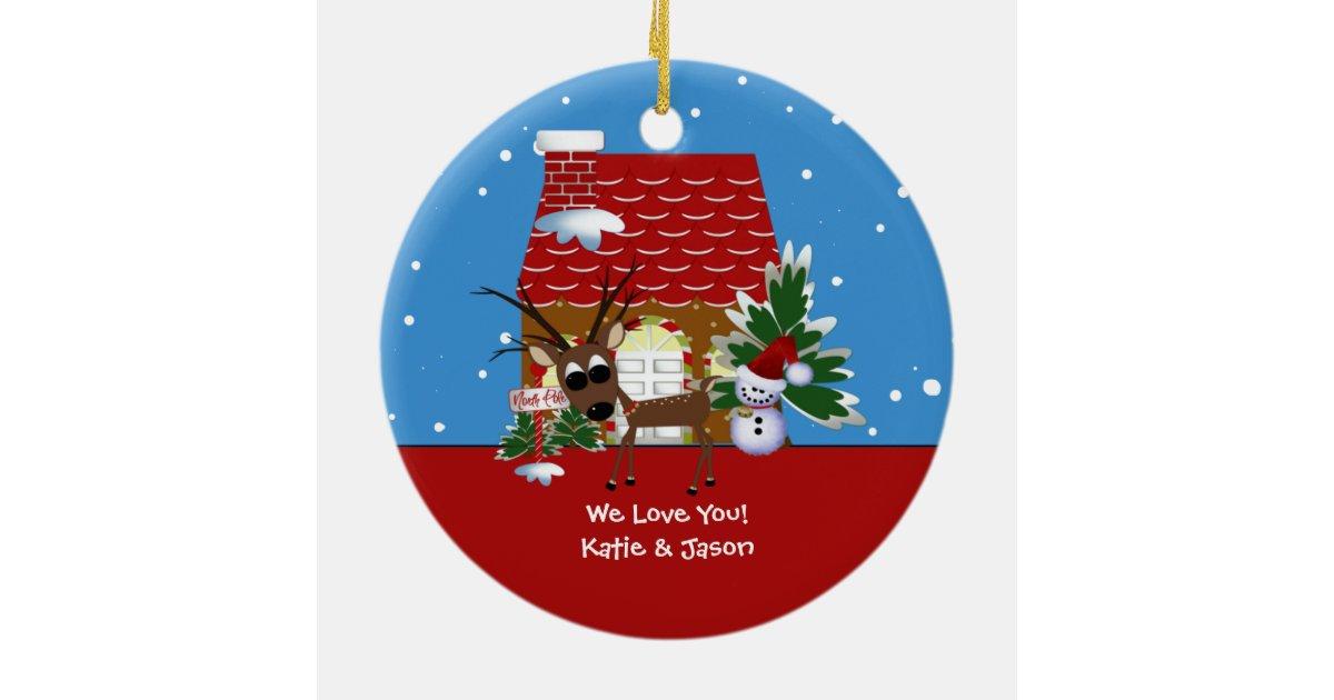 Grammy's Love House Christmas Ornament | Zazzle