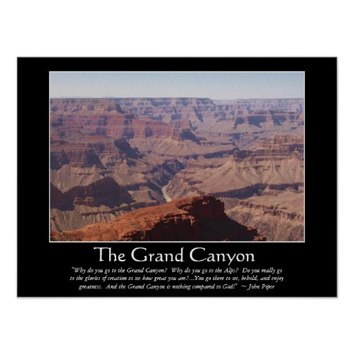 Grand Canyon Quotes: Grand Canyon Piper 1 Poster
