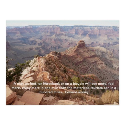 Grand Canyon Quotes: Grand Canyon Poster With Edward Abbey Quote