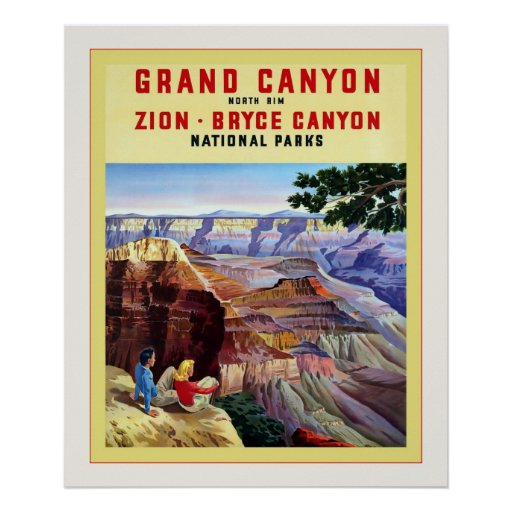 Grand Canyon Quotes: Grand Canyon ~ Vintage Travel Poster