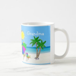 GRANDMA Mugs Beach Themed Coffee Mugs
