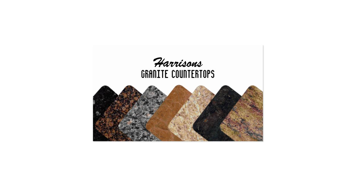 Granite business cards zazzle for Template for granite countertops