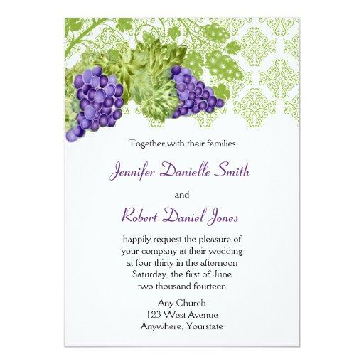 Outdoor Wedding Invitations: Grapevine Garden Wedding Invitation