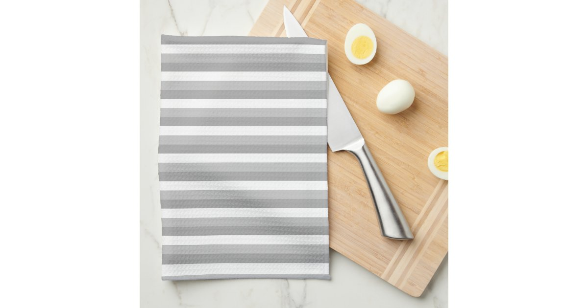 gray and white stripes pattern hand towels zazzle. Black Bedroom Furniture Sets. Home Design Ideas