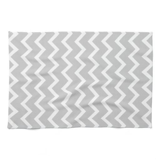 gray and white zigzag stripes towel zazzle. Black Bedroom Furniture Sets. Home Design Ideas