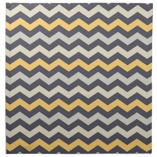 Zig Zag Kitchen: Gray And Yellow Chevron Stripe Zig Zag Kitchen Set Cloth