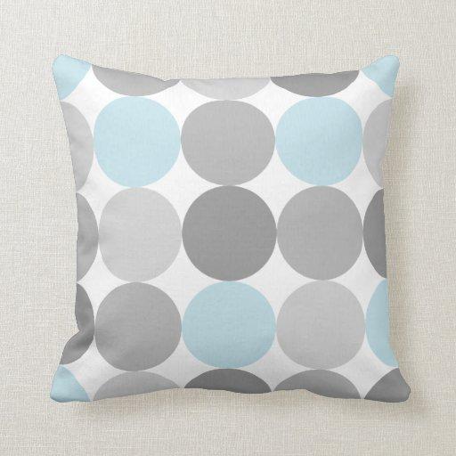 Gray Amp Light Blue Turquoise Round Circle Pattern Throw
