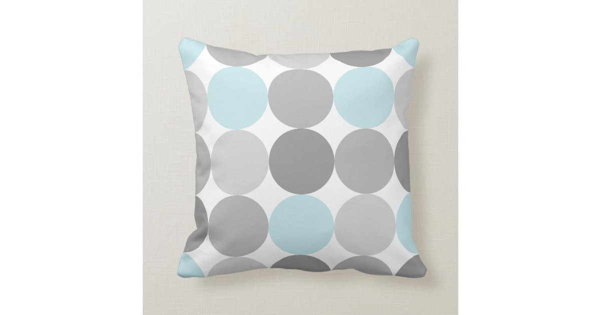 gray light blue turquoise round circle pattern throw pillow zazzle. Black Bedroom Furniture Sets. Home Design Ideas