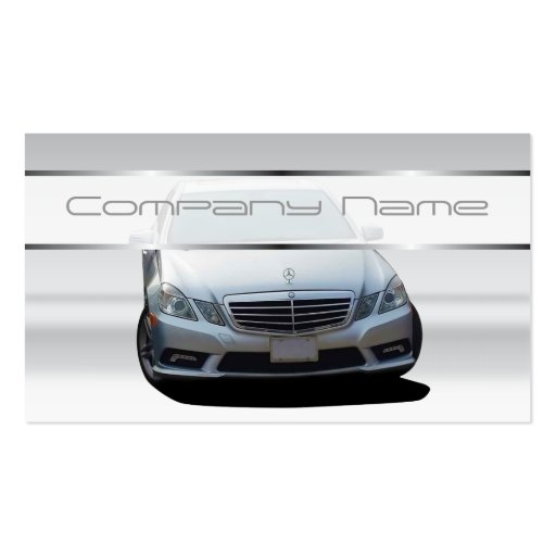 Gray Mercedes Benz Business Cards
