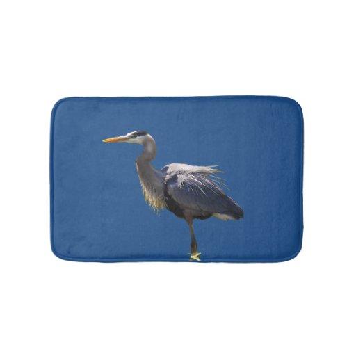 Great Blue Heron Bird Bath Mats Zazzle