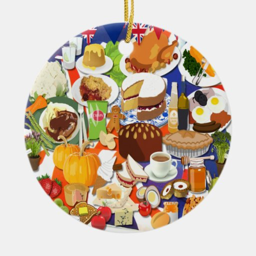 Food Ornaments Christmas: Great British Food Christmas Ornaments