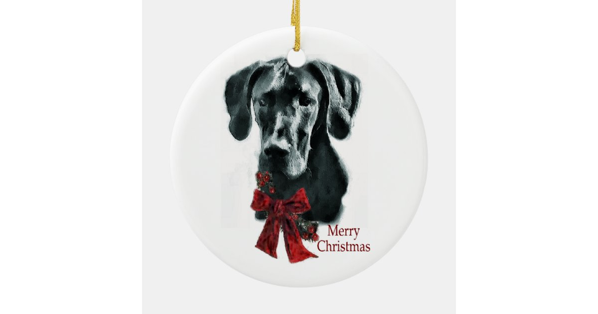 Great Dane Christmas Gifts Ornament | Zazzle