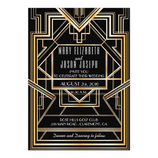 Great Gatsby Wedding Invites: Great Gatsby Inspired Wedding Invitation