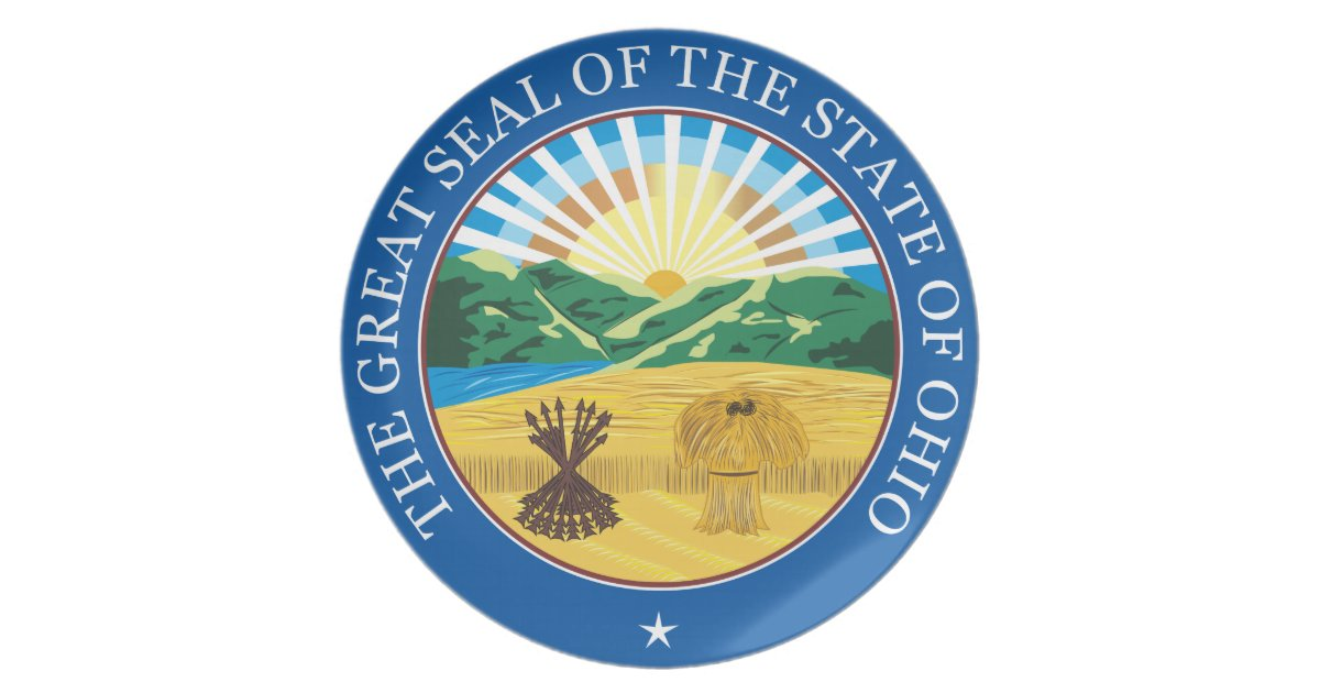 Great Seal Of The State Of Ohio Melamine Plate Zazzle