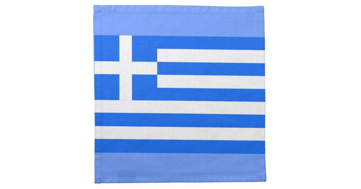 Greek flag napkin zazzle for Greek flag template