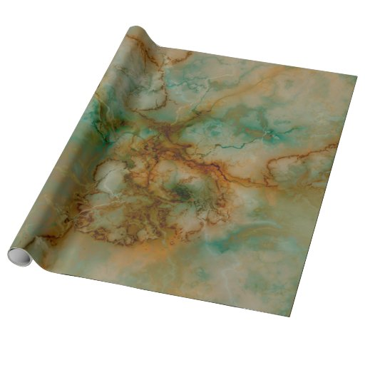 Green And Gold Marble Wrapping Paper Zazzle