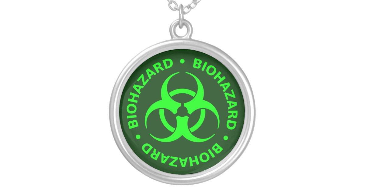 Green Biohazard Symbol Necklace | Zazzle