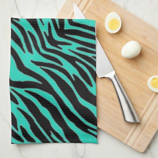 green blue zebra print towel zazzle. Black Bedroom Furniture Sets. Home Design Ideas