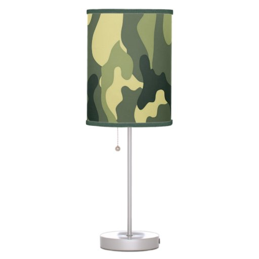 Green Camo Boy's Bedroom Or Baby Nursery Lamp
