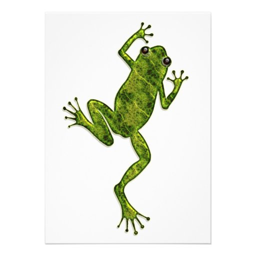 Green Climbing Tree Frog 5x7 Paper Invitation Card | Zazzle