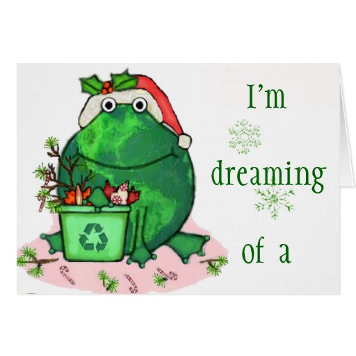 Coca Cola Gifts >> Green Environment Christmas Santa Frog Card   Zazzle