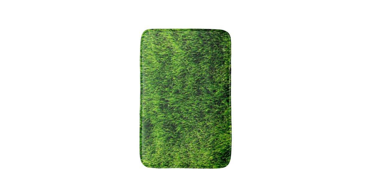 Green Grass Texture From A Soccer Field Bath Mat Zazzle