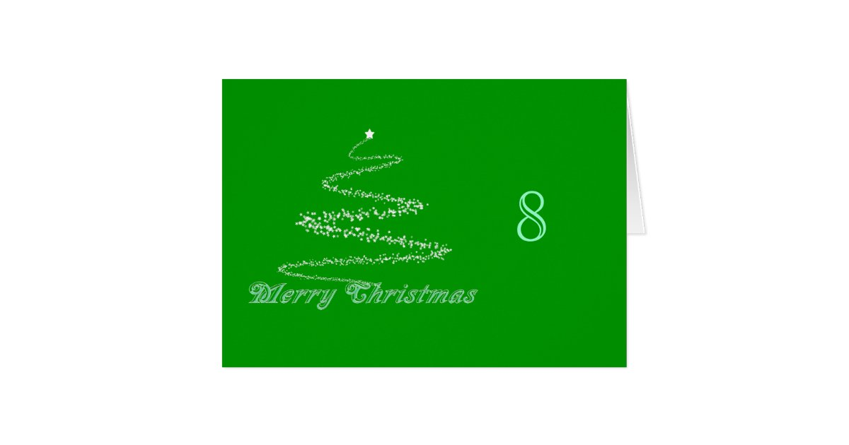 Green Merry Christmas Table Tent Template Card Zazzle 4dnBie5e