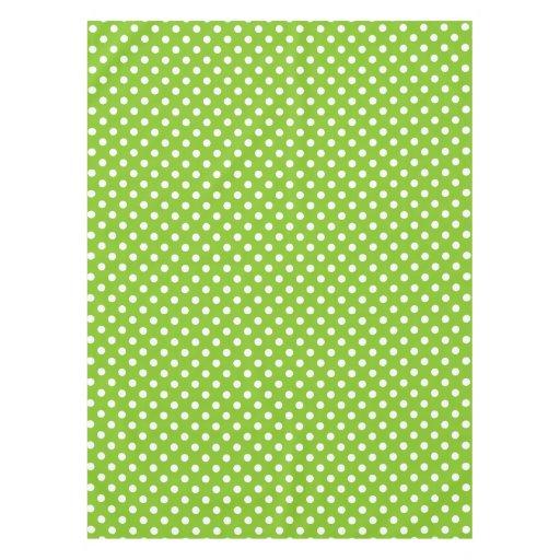 Green Polka Dot Pattern Tablecloth Zazzle