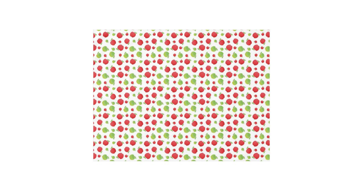 Green Amp Red Apple Print Tablecloth Zazzle