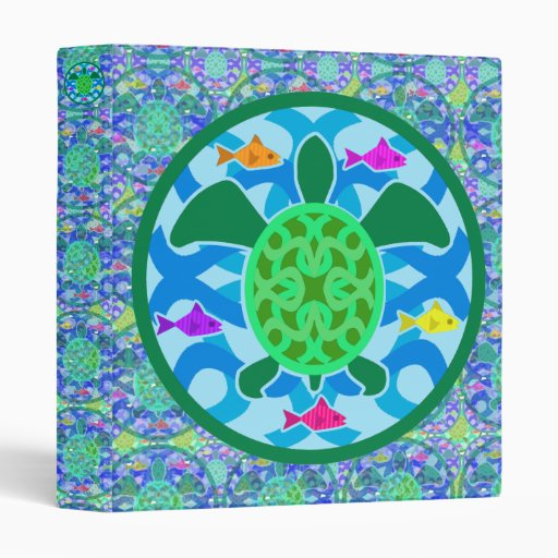 "Green Sea Turtle 1"" Art Binder"