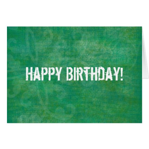Green & Teal Background Happy Birthday Card