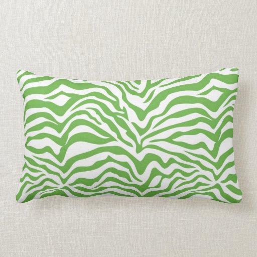 green zebra print throw pillow zazzle. Black Bedroom Furniture Sets. Home Design Ideas