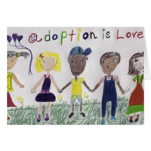 Greeting Card - Adoption Is Love