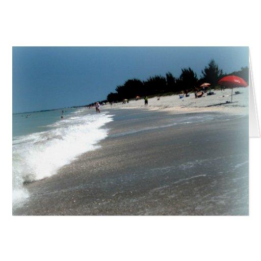 "Island Beach Scenes: Greeting Card: ""Beach Scene"" Sanibel Island, FL Card"