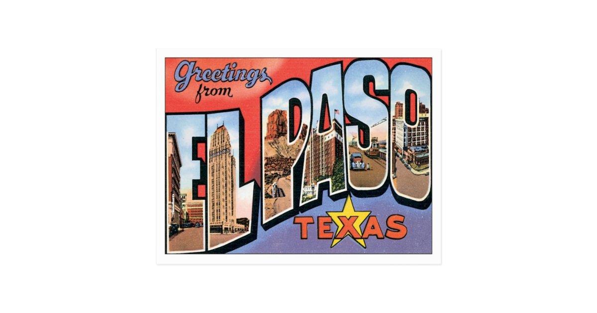 Wedding Invitations El Paso Tx: Greetings From EL Paso,Texas Postcard