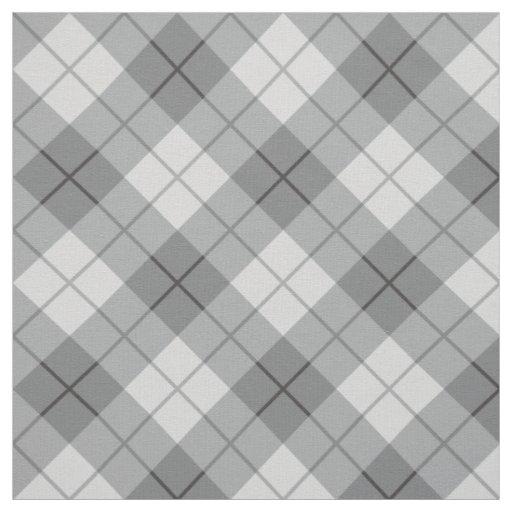 Grey Plaid Fabric Zazzle