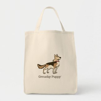 Grouchy Puppy Grocery Tote