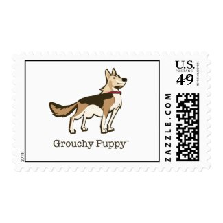 Grouchy Puppy Postage