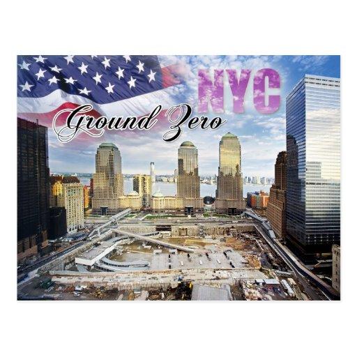 Manhattan To New York City: Ground Zero, Manhattan, New York City Postcard
