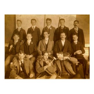 Group of Silly Poolroom Hotshots, circa 1900