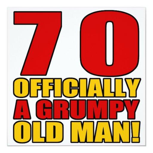 Grumpy 70th Birthday Humor Card